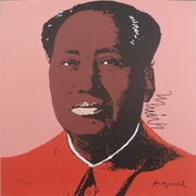 Mao II. 96 Lithograph 1877/2400 signed in print, authenticated.