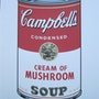 Campbell's Soup I. Cream of Mushroom lithograph 200/3000 signed in print. Elcoco