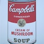 Andy Warhol Campbell's Soup I. Cream of Mushroom signed lithograph 881/3000. Elcoco