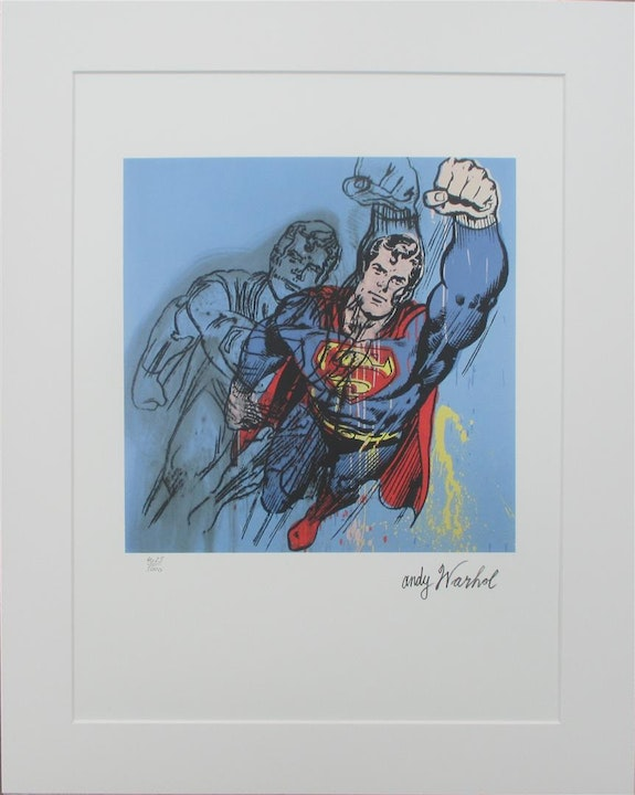Superman 1242/5000 authenticated, printsigned. Andy Warhol Elcoco