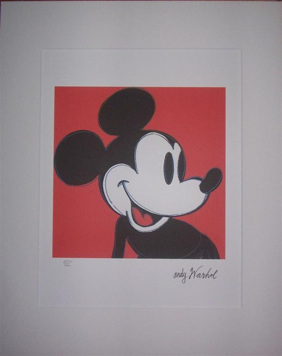 Mickey Mouse lithograph 2777/5000. Andy Warhol Elcoco