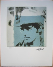 Dennis Hopper lithograph 1514/2400 blue.