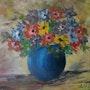 Vase d'anémones. Andre Blanc