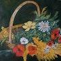 Panier aux fleurs. Andre Blanc