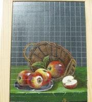 5 Pommes reine des reinettes sortant de leur panier.