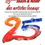 Affiche 25eme salon d'hiver des artistes locaux Anse 2cea. Forangeart F. Baldinotti Peintre De l'air