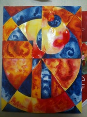 Etude fond abstrait. Forangeart F. Baldinotti Peintre De l'air