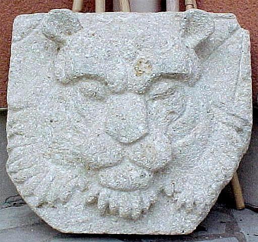 Le tigre a la tache, stone shield coquillée. Jezabelle Jezablsculpt