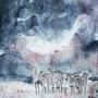 Zebres sous la pluie. Laurent Colsenet