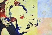 Portrait de Jeanne Moreau. Fabrice
