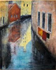 Reflets dans les canaux de Venise.