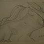 Hommage à Gustave Courbet dans l'origine du monde avec une touche personnelle. Artiste Patricia Mazzeo