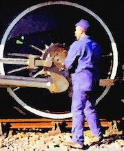 Locomotive à vapeur. Raymond Marcel Depienne