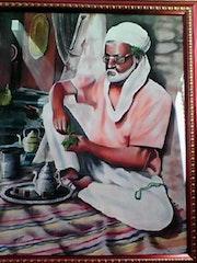 L'homme qui prépare le thé.