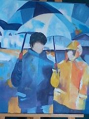 Sous les parapluies. Sauvette