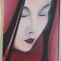 Portrait rouge. Nadine Gartau