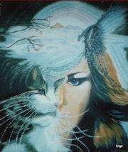 Femme chats Allégorie. Ingrid
