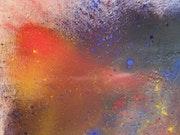 Cerisier 2011 peinture huile sur toile.