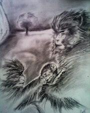 Les singes. Laura Eva