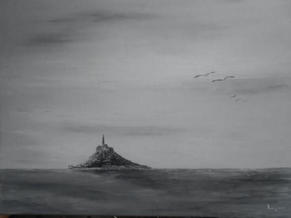 Mont st michel en noir et blanc. Lemarquand Catherine Lemarquand