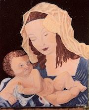 La Vierge et l'enfant.