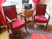 Paire de fauteuils d'époque Empire, acajou. Eurl Koppel