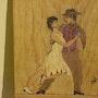 Couple dansant un tango argentin. Michel Pernin