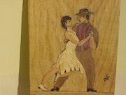 Couple dansant un tango argentin.
