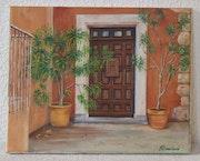 Porte de maison à Roussillon.