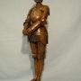 Jeanne d'Arc, bronze signé Barrias. Marc Menzoyan Antiquités