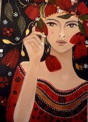 La kabyle aux coquelicots. Carolaka