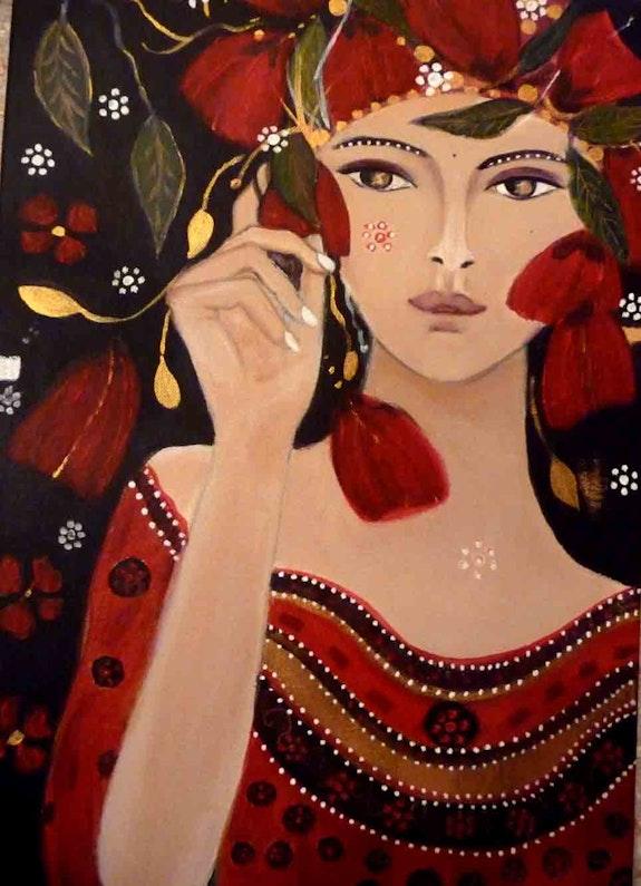 La kabyle aux coquelicots. Carole B Carolaka