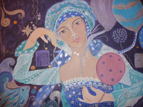 Océane et les ballons. Caroleb Carolaka