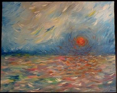Couché de soleil un soir d'hiver. C. De Flogny