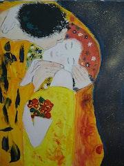 Le baiser (d'aprés Gustav klimt).