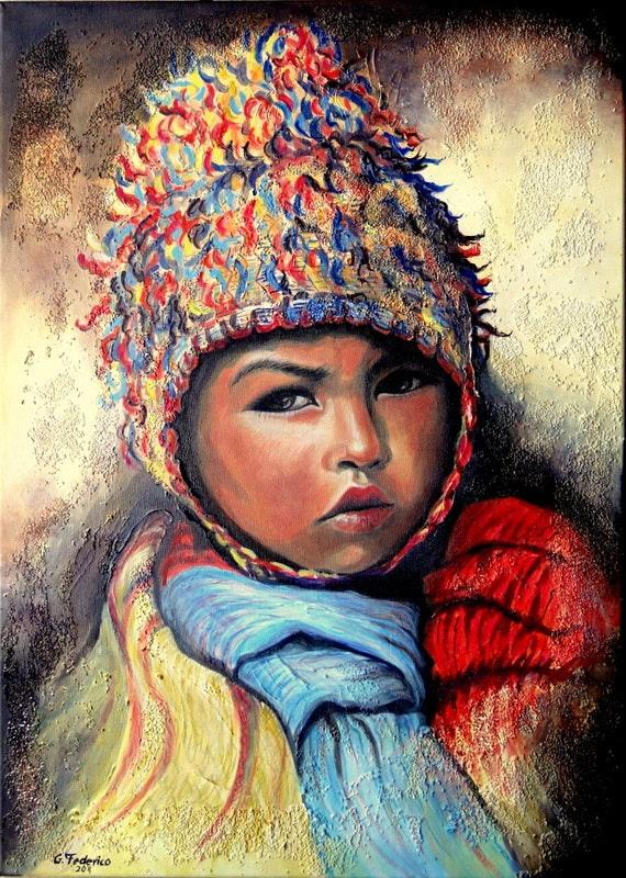 Der Junge aus Peru (Anden). Grazyna Federico Grazyna Federico