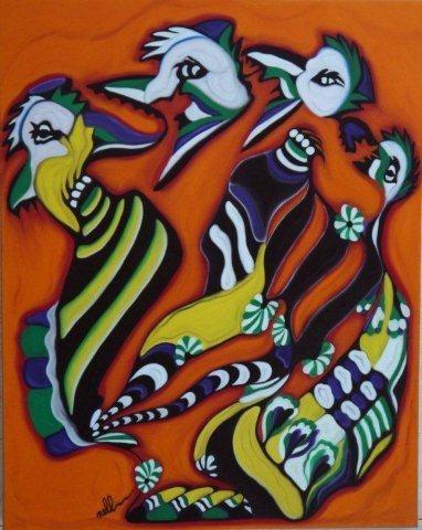 N° 48 La Ronde des Oiseaux.  Nelly Tapin Hermouet