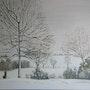 Paysage de neige. Jean-François Desrues
