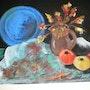 Nature morte aux pommes. Brigitte Leleu
