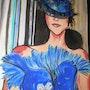 Toute en bleu. Brigitte Leleu