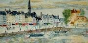 Honfleur : le port.