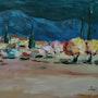 Paysage de provence. Andre Blanc