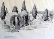 Porte sud des arènes de Cimiez à Nice. Dominique Marchal
