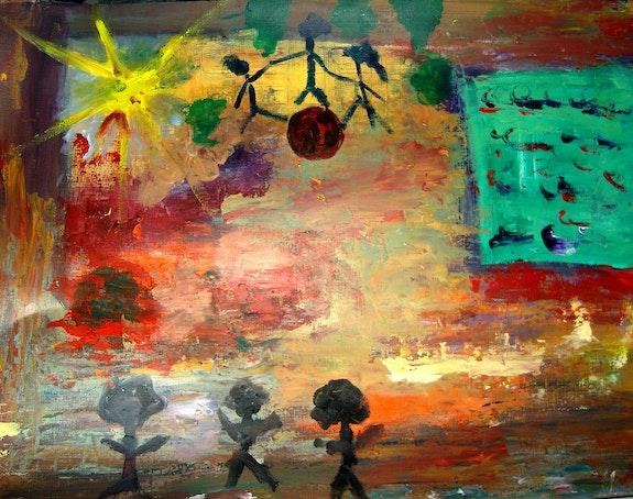 Rêverie d'enfant. Tml-Peintre (Michele Thomas) Tml-Peintre
