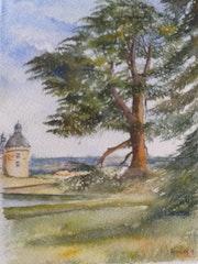 Vue du chateau de Hautefort (24 Dordogne).