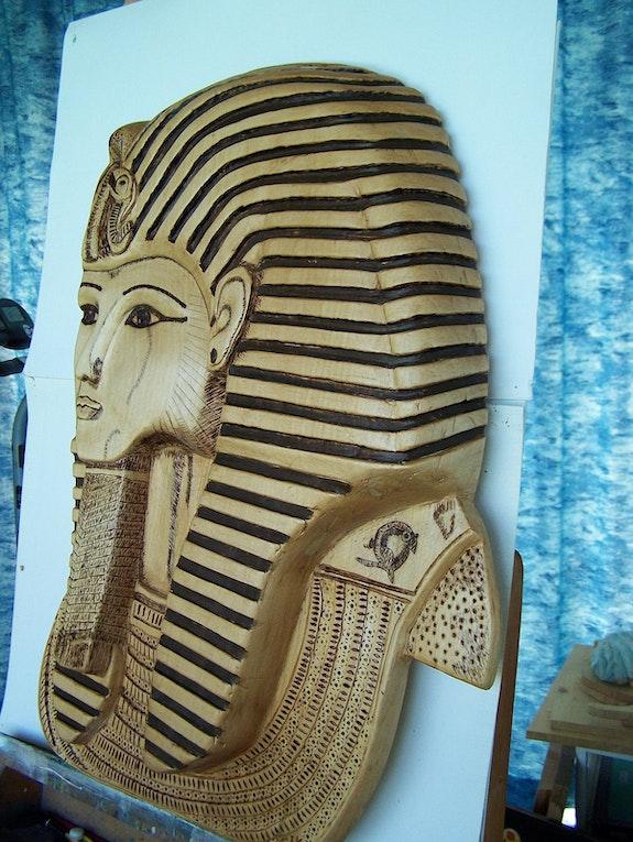 Mask-tutankhamun vu de coter. Ik Ingrid