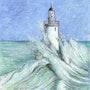 Phare dans la vague. 33Domy