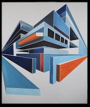 «Working» peinture acrylique. Pierrick Lourme