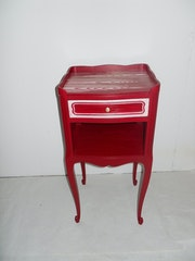 Commode relookée rouge carmin.. Pina68