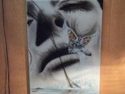 Toile peinte à l'aérographe sans titre. Lionel Fiore